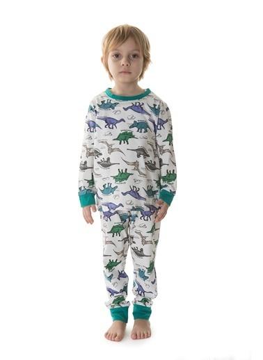 Hays Erkek Çocuk Penye 2li Pijama Takımı Yeşil
